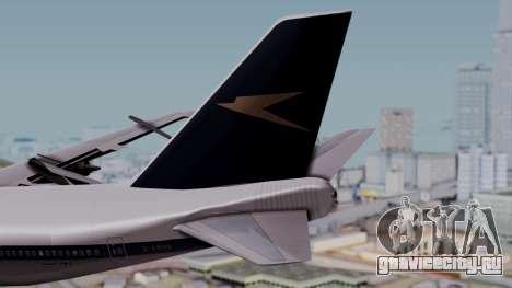 Boeing 747-100 British Overseas Airways для GTA San Andreas вид сзади слева