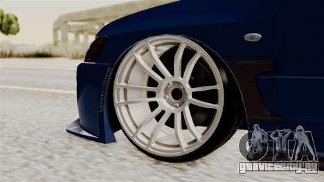 Mitsubishi Lancer Evolution v2 для GTA San Andreas вид сзади слева