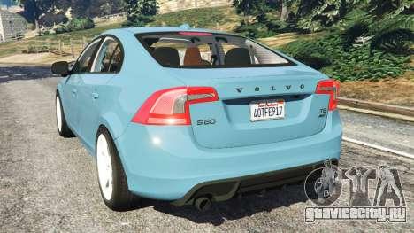 Volvo S60 [Beta] для GTA 5 вид сзади слева