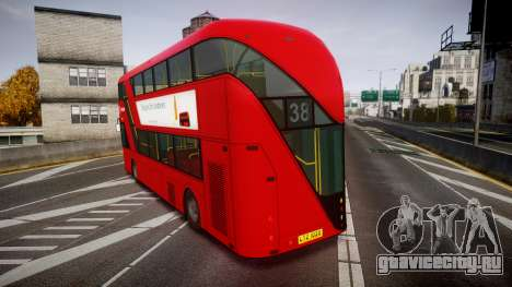 Wrightbus New Routemaster Arriva для GTA 4 вид сзади слева