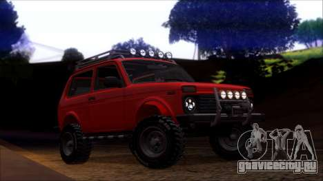 ВАЗ 2121 Нива Offroad для GTA San Andreas вид сзади слева