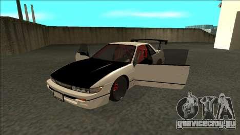 Nissan Silvia S13 Drift для GTA San Andreas вид сзади