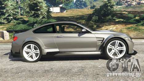 BMW M4 F82 WideBody для GTA 5 вид слева