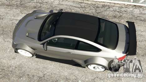 BMW M4 F82 WideBody для GTA 5 вид сзади