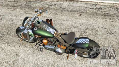 Harley-Davidson Fat Boy Lo Racing Bobber v1.1 для GTA 5 вид сзади
