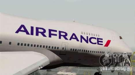 Boeing 747-200 Air France для GTA San Andreas вид сзади
