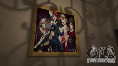 Аниме постеры для дома Майкла для GTA 5 пятый скриншот