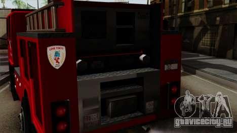 DFT-30 Tokyo Fire Department Pumper для GTA San Andreas вид справа
