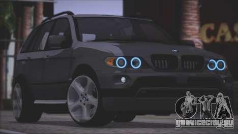 BMW X5 E53 для GTA San Andreas вид сбоку