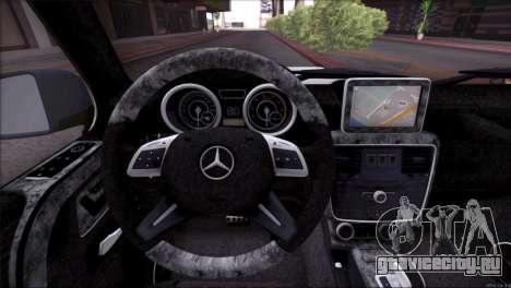 Mercedes Benz G65 AMG 2015 Topcar Tuning для GTA San Andreas двигатель