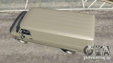 Chevrolet G20 Van для GTA 5 вид сзади