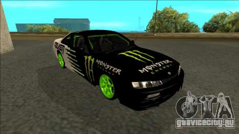 Nissan 200SX Drift Monster Energy Falken для GTA San Andreas вид сбоку