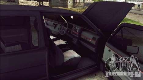 Volkswagen Golf Mk2 Line для GTA San Andreas вид изнутри