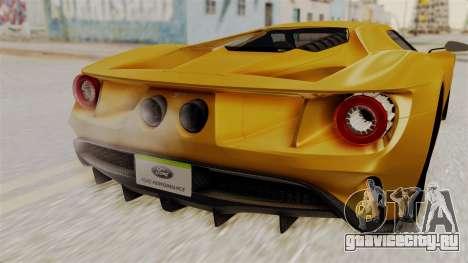 Ford GT 2016 Black Revel для GTA San Andreas вид справа