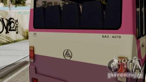 БАЗ A079.07 Эталон для GTA San Andreas вид сзади слева