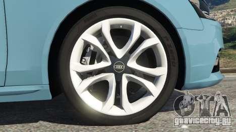 Audi A4 Avant 2013 для GTA 5 вид сзади справа