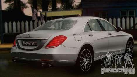 Mercedes-Benz S500 W222 для GTA San Andreas вид слева