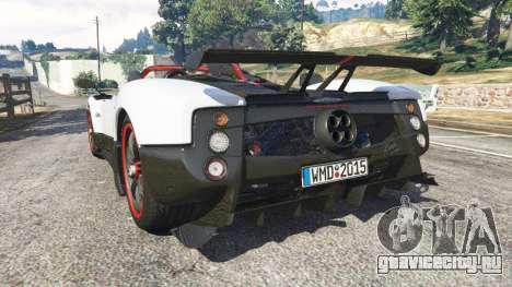 Pagani Zonda Cinque Roadster для GTA 5 вид сзади слева