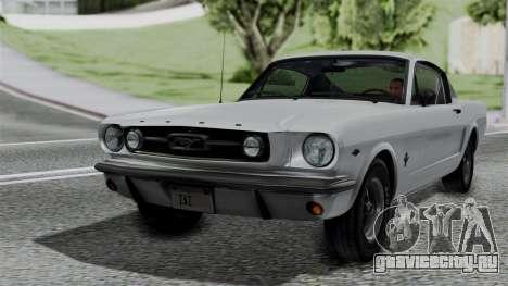 Ford Mustang Fastback 289 1966 для GTA San Andreas