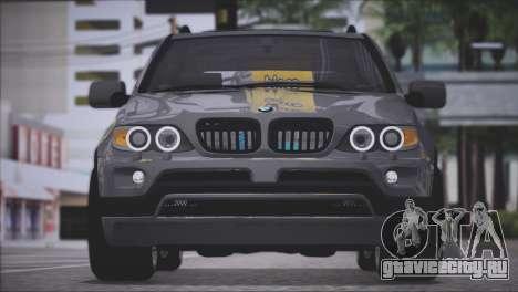 BMW X5 E53 для GTA San Andreas вид сзади