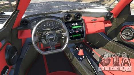 Pagani Zonda Cinque Roadster для GTA 5 вид спереди справа