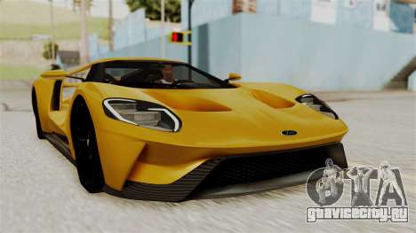 Ford GT 2016 Black Revel для GTA San Andreas