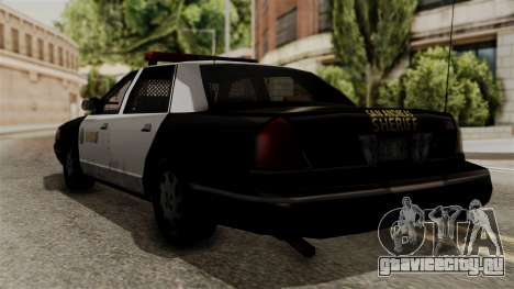 Ford Crown Victoria LP v2 Sheriff для GTA San Andreas вид слева