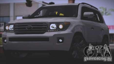 Toyota Land Cruiser 200 для GTA San Andreas вид сбоку