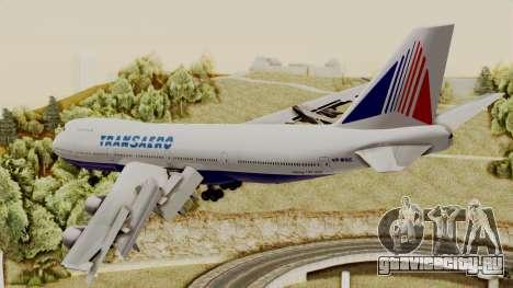 Boeing 747 TransAero для GTA San Andreas вид слева