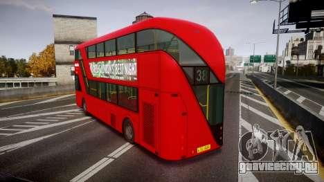 Wrightbus New Routemaster Metroline для GTA 4 вид сзади слева