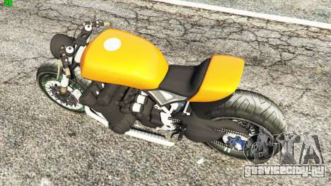 Honda CB 1800 Cafe Racer Paint для GTA 5 вид сзади