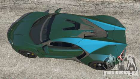 Lykan Hypersport 2014 v1.1.5 для GTA 5 вид сзади