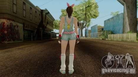 Dead Or Alive 5 Hitomi Overalls для GTA San Andreas третий скриншот