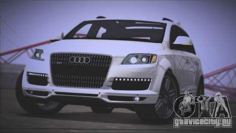 Audi Q7 2008 для GTA San Andreas вид сзади слева