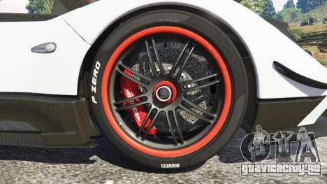 Pagani Zonda Cinque Roadster для GTA 5 вид сзади справа
