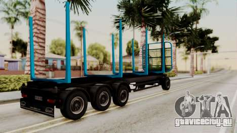 Wood Transport Trailer from ETS 2 для GTA San Andreas вид слева
