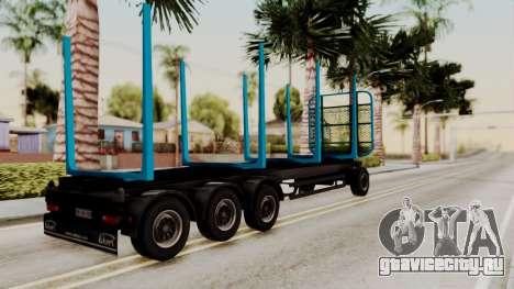 Wood Transport Trailer from ETS 2 для GTA San Andreas вид слева