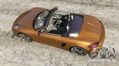 Porsche Boxster GTS для GTA 5 вид сзади