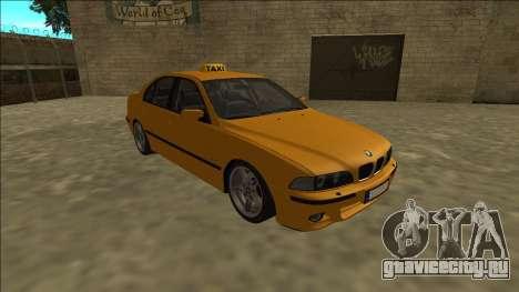 1999 BMW 530d E39 Taxi для GTA San Andreas вид сзади