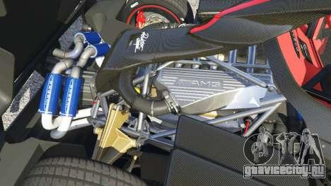 Pagani Zonda Cinque Roadster для GTA 5 вид справа