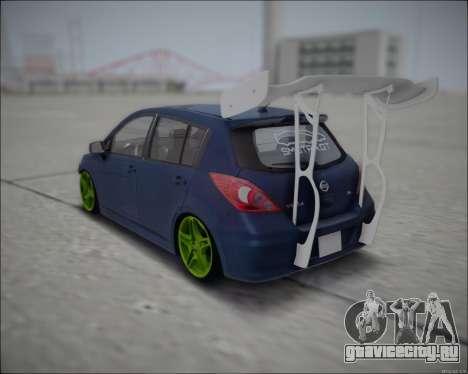 Nissan Tiida Drift Korch для GTA San Andreas вид сзади слева