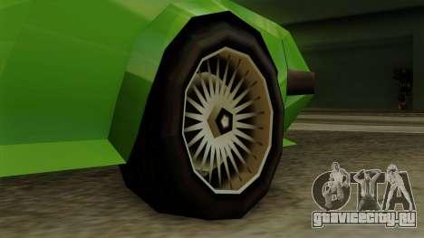 Deluxo from Vice City Stories для GTA San Andreas вид сзади слева