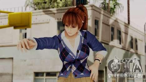 DOA 5 Kasumi Blue Sweater для GTA San Andreas