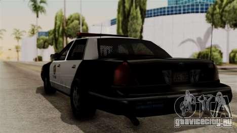 Ford Crown Victoria LP v2 LSPD для GTA San Andreas вид слева