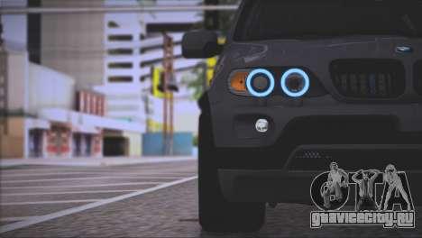 BMW X5 E53 для GTA San Andreas салон