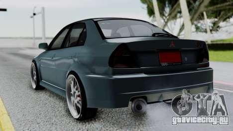 Mitsubishi Lancer Evolution Turbo для GTA San Andreas вид слева