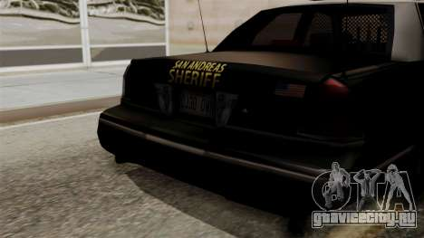 Ford Crown Victoria LP v2 Sheriff для GTA San Andreas вид справа