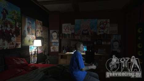 Аниме постеры для дома Майкла для GTA 5 второй скриншот