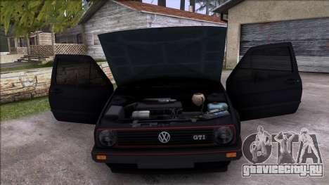 Volkswagen Golf Mk2 Line для GTA San Andreas вид сверху