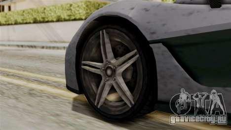 GTA 5 Progen T20 SA Style для GTA San Andreas вид сзади слева